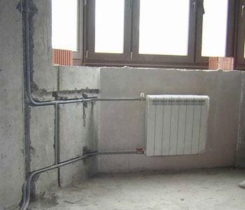 Монтаж стояков и подводок к приборам из стальных труб в Ижевске, монтаж отопления Ижевск